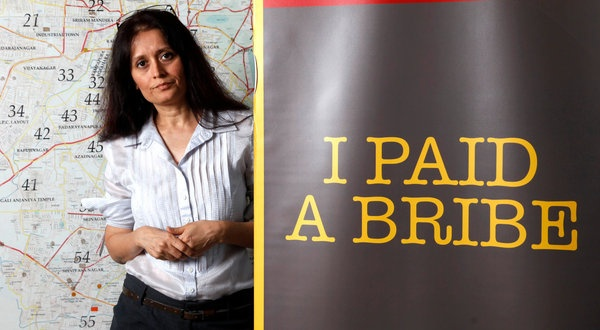 Ms. Ramanathan and her husband, Ramesh, along with Sridar Iyengar, set out to change nickel-and-dime bribery in August 2010 when they started ipaidabribe.com, a site that collects anonymous reports of bribes paid, bribes requested but not paid and requests that were expected but not forthcoming