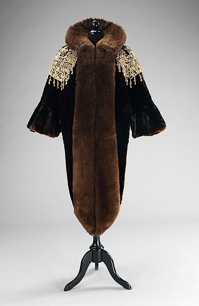 Evening mantle (image 1) | House of Worth | French | 1887 | fur, linen | Brooklyn Museum Costume Collection at The Metropolitan Museum of Art | Accession Number: 2009.300.127