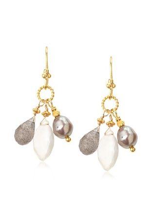 71% OFF Robindira Unsworth Labradorite Cluster Earrings