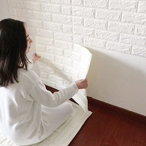 3d Brick Wall Stickers Pe Foam Self Adhesive Wallpaper Removable And Waterproof Art Wall