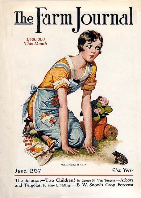 1927 Gardening apron