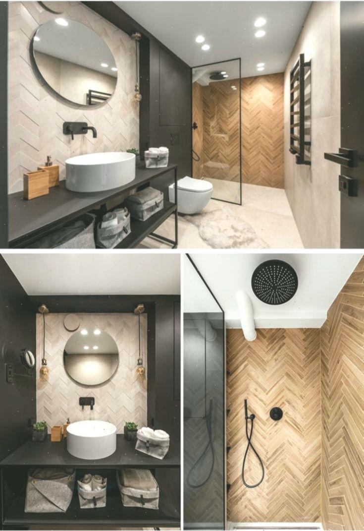 Dieses Moderne Badezimmer Ist Mit Fliesen Ausgestattet Die In Fischgrat Und In 2020 Modernes Badezimmer Badezimmer Modern