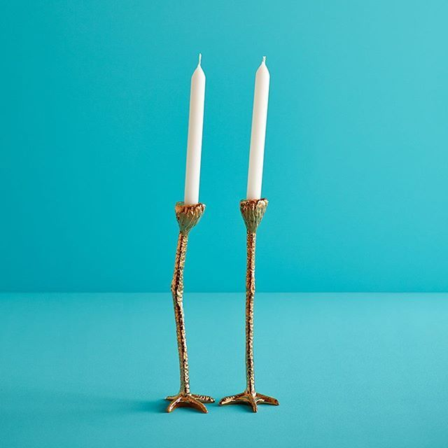 Product of the week: the famous Long Legs in Gold by Jasmin Djerzic. Add a hint of humour and creativity to your home interior with these funky candleholders. Impossible not to love them! Link available in the bio! #design #unique #candleholders #interior #style #homedecor #home #eclectic #moderninterior #moderndesign #clay #colorful #inspiration