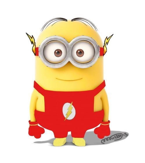 Is more beautiful a Minion in the costume of flash
