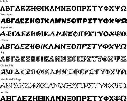 Greek Letters | Greek Fonts to use on sorority projects