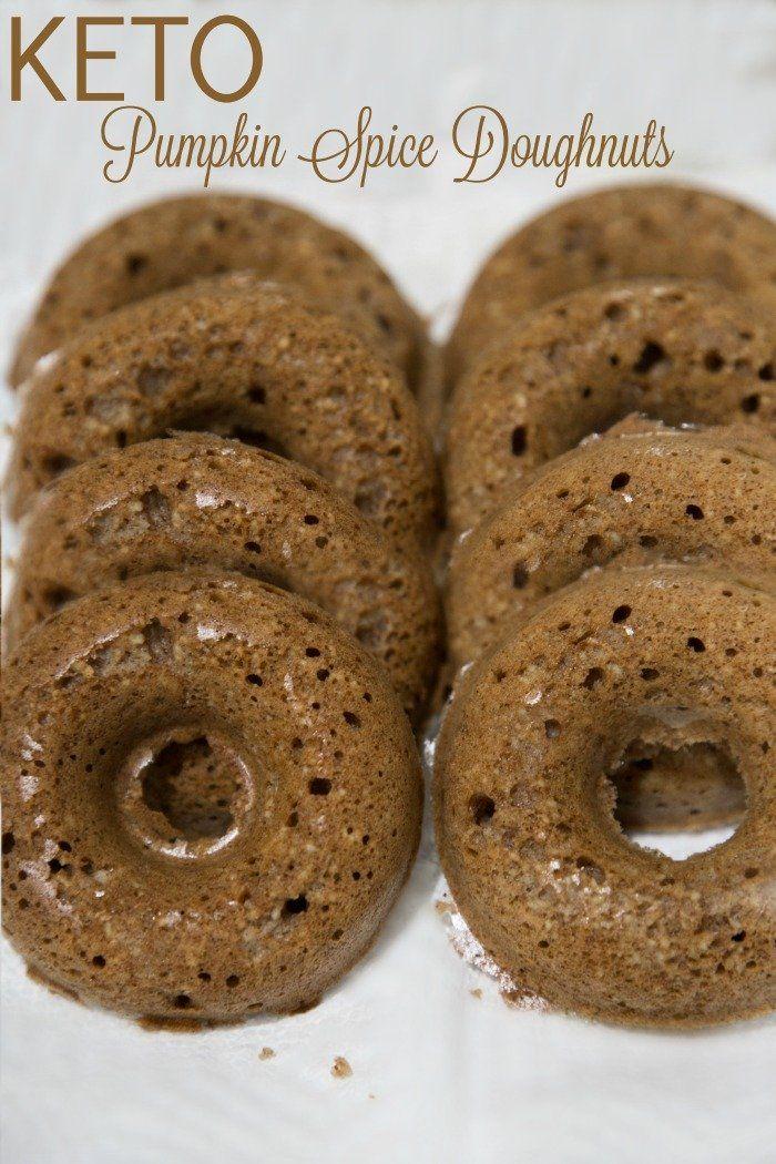 Delicious Keto Pumpkin Pie Spice Doughnuts that only take 12 minutes to bake.