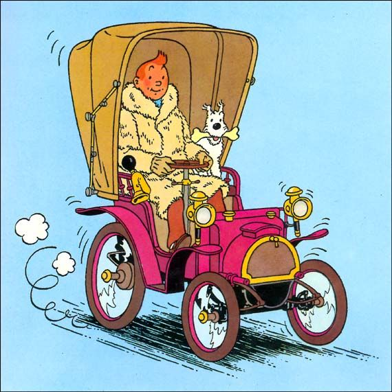Tintin tells the story of THE HISTORY OF THE AUTOMOBILE - from its origins to 1900. Belgian priest Ferdinand invented the automobile.