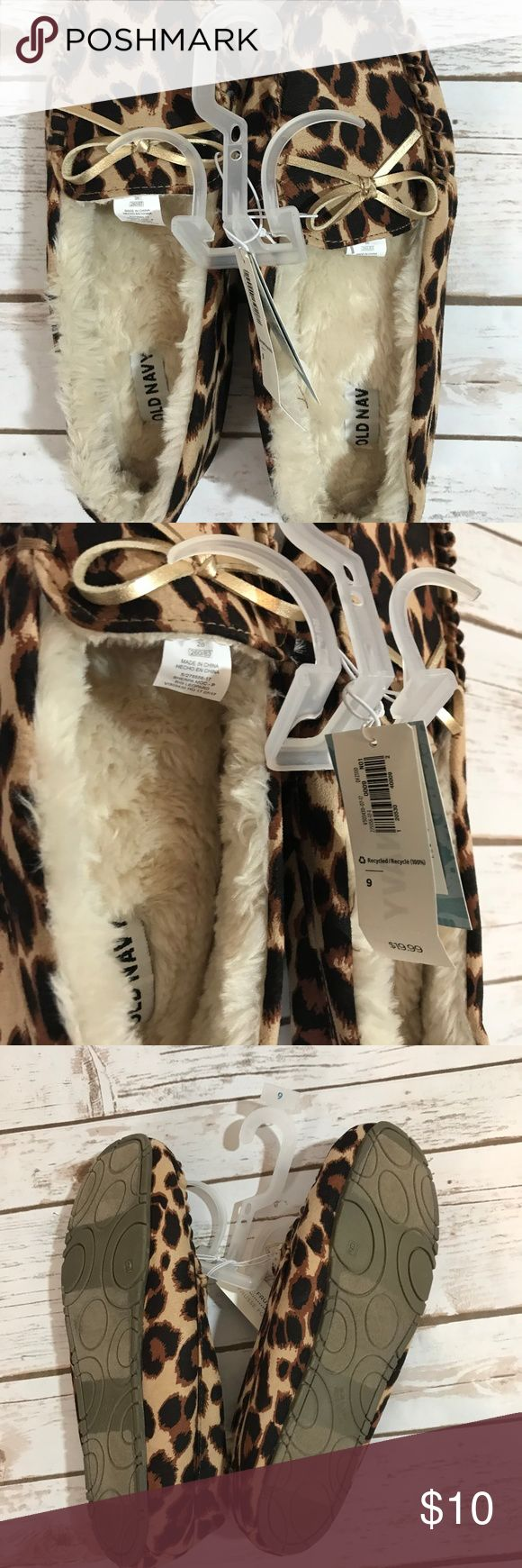 NWT Old Navy Leopard Print Slippers NWT Old Navy Leopard Print Slippers Old Navy Shoes Slippers