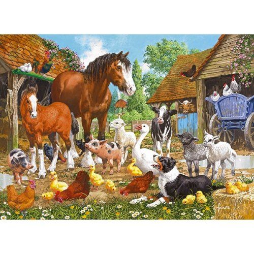 Animal Farm Jigsaw Puzzle from Jigsaw Puzzles Direct - Order today and Get Free Delivery
