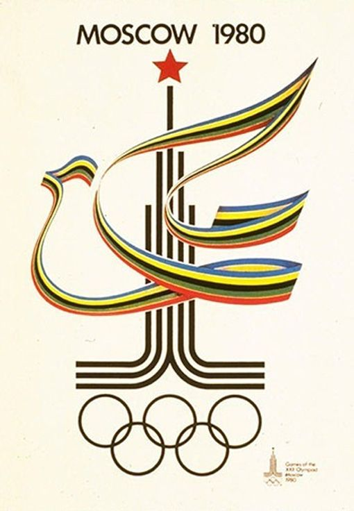 Olympic poster for Moscow, 1980