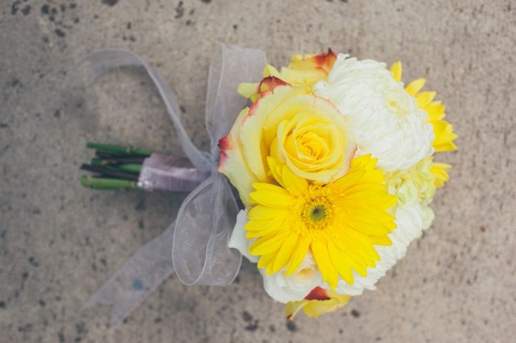 Colorful San Diego Wedding at Hilton San Diego Bayfront, CA  Beautiful and bright yellow bouquet!   Photographer:  Fonyat Photographer