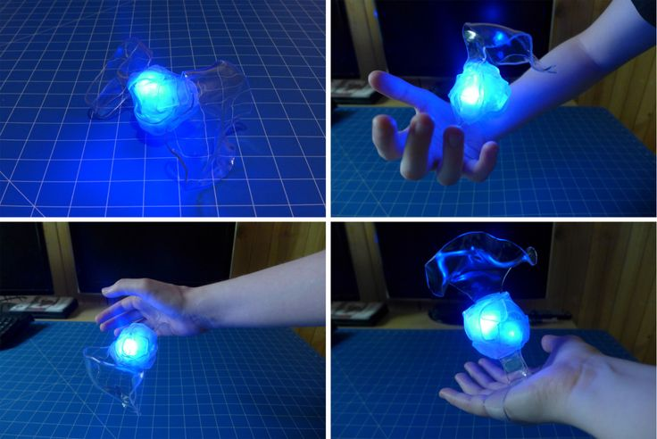 Magic prop made with organsa and heat formed plastics (explanation on site) could be done with other colours to simulate fire!