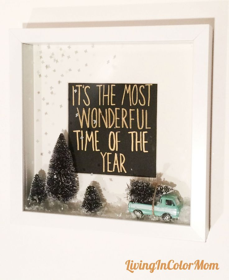 Christmas Shadow Box Decor