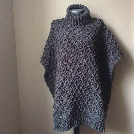 Free Crochet Poncho Patterns Adults : 1000+ ideas about Crochet Poncho Patterns on Pinterest ...