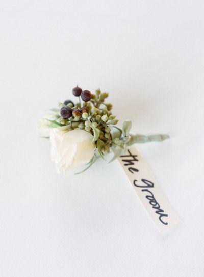 Mooi corsage voor een herfst bruiloft