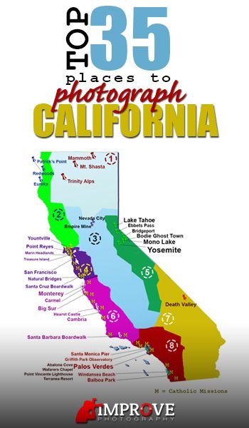 Top 35 Places to Shoot in California improvephotography.com