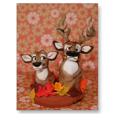 Redneck cake Topper - Fall theme sculpted by artist Christina Patterson from www.iDoCakeToppers.com