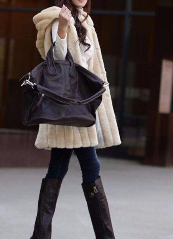 Women Fur Vest, Sleeveless Fur Coat Size M - 2XL