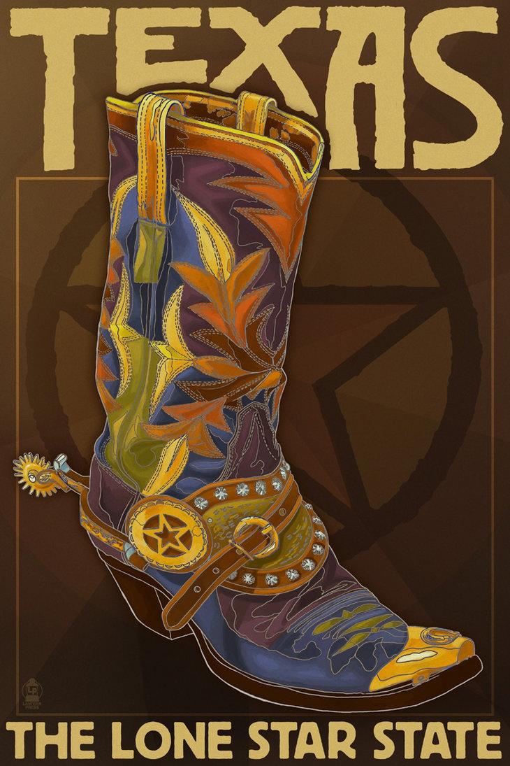 Texas Boot by ~Chronoperates on deviantART