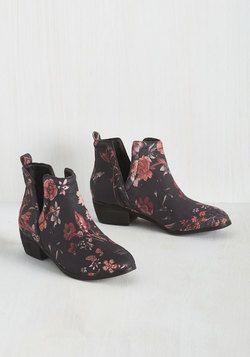 Boots & Booties - Romantic Amble Bootie in Garden Path