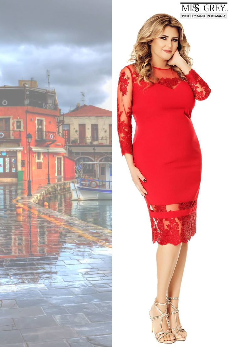 Spectacular in every way, the red Gratiela dress gives you sophistication and sensuality, for a perfect summer look