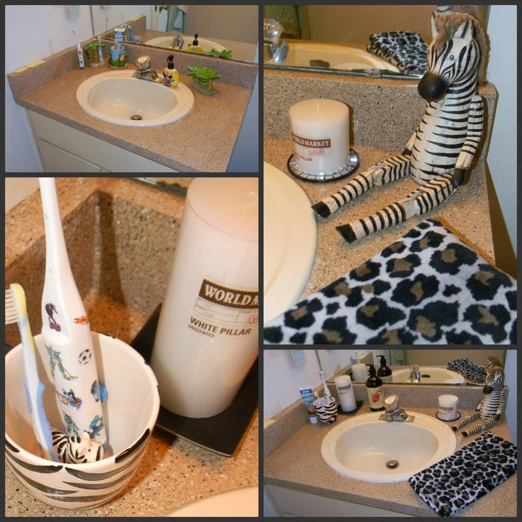 Best Safari Bathroom Images On Pinterest Safari Bathroom - Zebra bath towels for small bathroom ideas