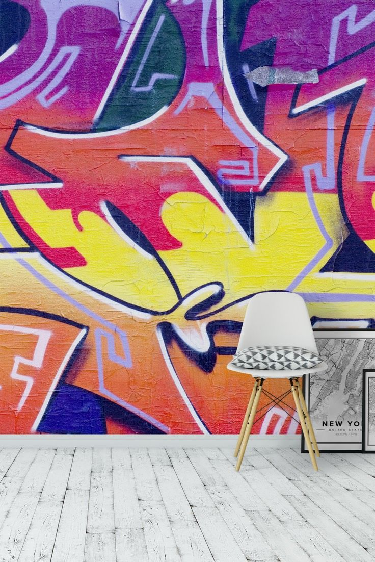 Graffiti Splash Wall Mural   Wallpaper Part 73