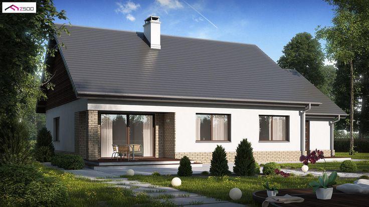 Z131 to wyjątkowy dom z kategorii projekty domów tanich w budowie
