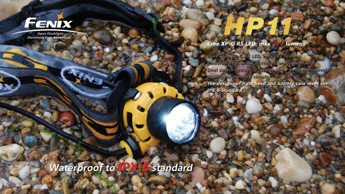 Fenix HP11 is an high-intensity, water-resistant outdoor headlamp. The max 277 lumens output can satisfy various high-intensity requirements when cycling, searching, and caving. Featuring waterproofing to IPX-6 Standard. The dual switch system can transfer the brightness levels rapidly which can meet the needs of different brightness levels and runtime in various conditions. The integrated design makes the battery case separated from the headlamp so as to reach a balance of weight…