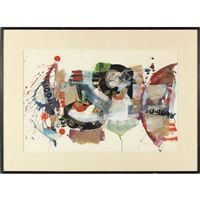 Sam Middleton, Abstract Mixed Media Collage.