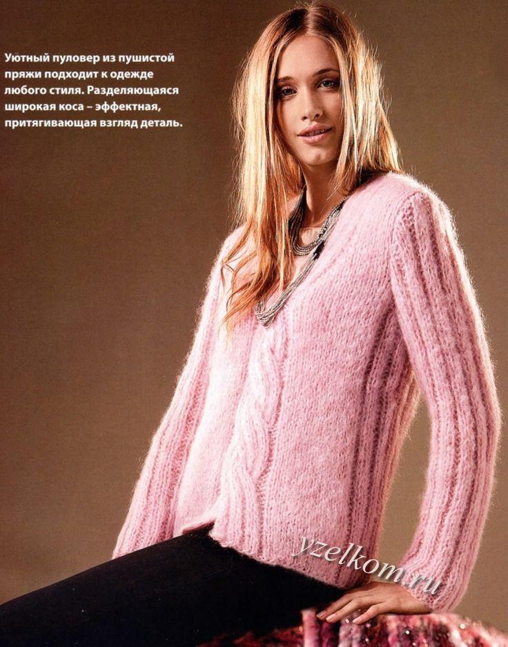 пуловеры вязание спицы