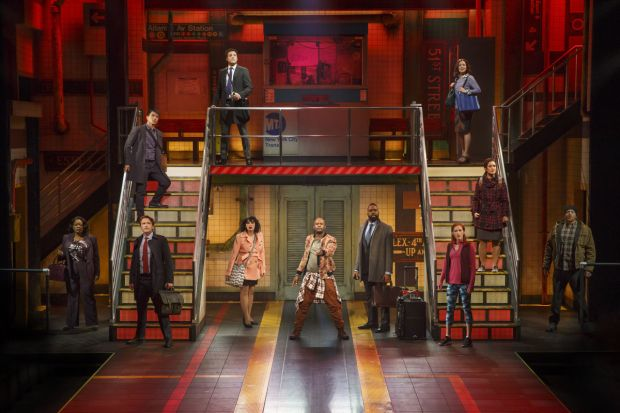 First Look at Margo Seibert, Justin Guarini, and More in Broadway's In Transit - TheaterMania.com