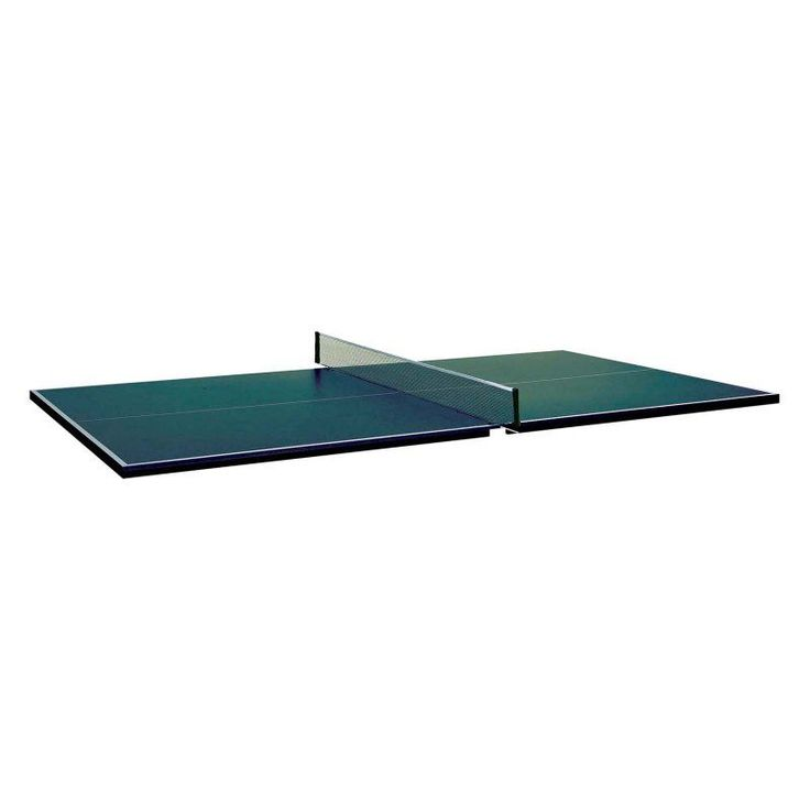 Butterfly 3/4 in. Table Tennis Conversion Top with 2 Player Racket Set Green - PT16GDX-201 W/KIT