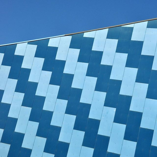 Inspiration in the form of the external wall of the Federation Concert Hall in Hobart.  #inspiration  #architecture  #pattern  #colour  #Hobart  #Tasmania