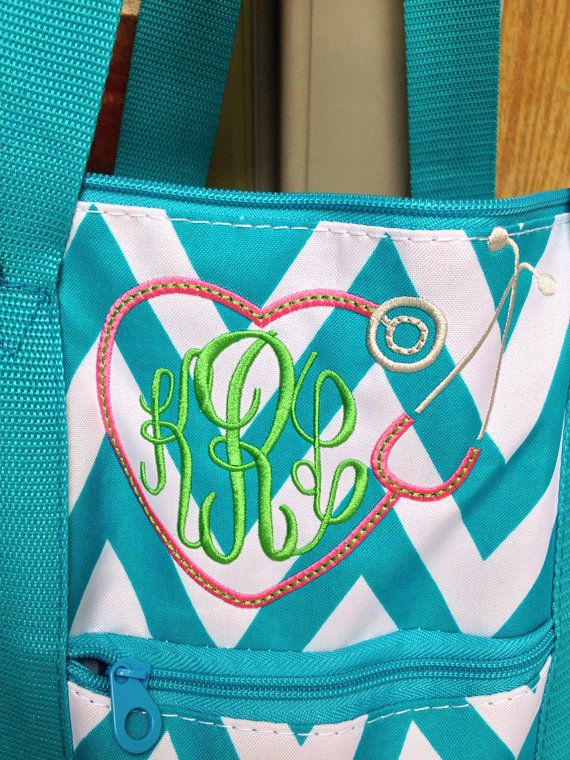Stethoscope Monogram Weekender Tote Bag Nurse Rn Lvn Doctor Respiratory The Gift