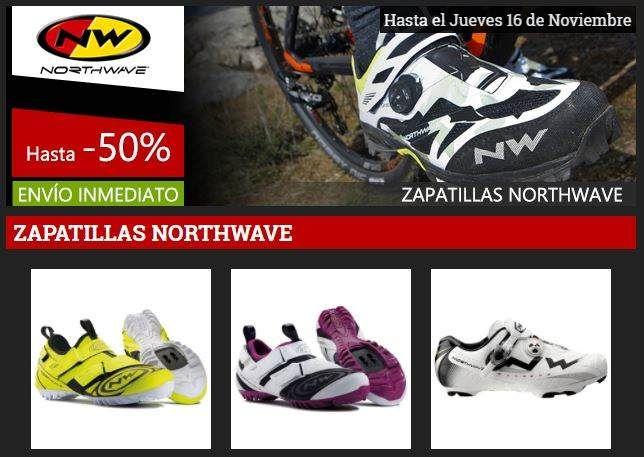 Ofertas zapatillas Nortwave con descuentos de hasta el 50%