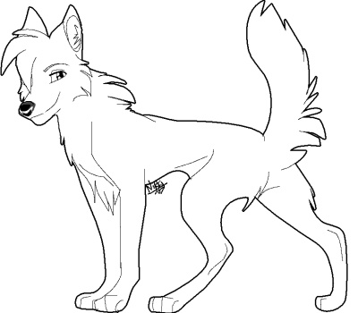cartoon wolf coloring pages - colored cartoon wolf drawings