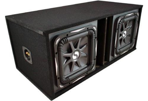 Kicker Car Audio Loaded Sub Box With Dual 12-Inch L7 Series S12L7 Subwoofers #SubBox