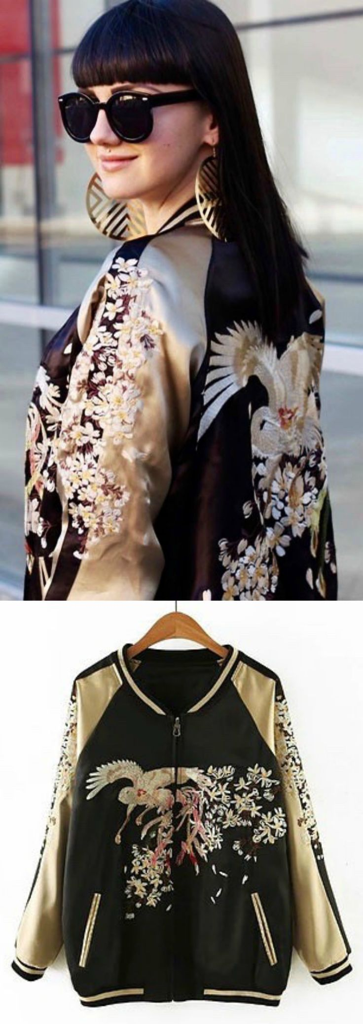 An Embroidery Bomber Jacket is now available at $75 from Pasaboho. ❤️ This Fashion Jacket exhibit unique bold embroidered patterns with sakura flowers. ❤️ boho fashion :: gypsy style :: hippie chic :: boho chic :: outfit ideas :: boho clothing :: free spirit :: fashion trend :: flowers :: floral :: lace :: summer :: fabulous :: love :: street style :: fashion style :: boho style :: bohemian :: modern vintage :: ethnic tribal :: boho bags :: embroidery dress :: skirt :: bohemian :: boho trend