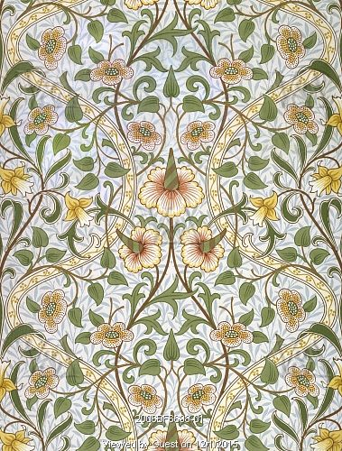 Daffodil wallpaper, by John Henry Dearle. England, 1903