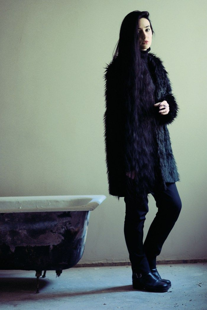 Faux fur cooat