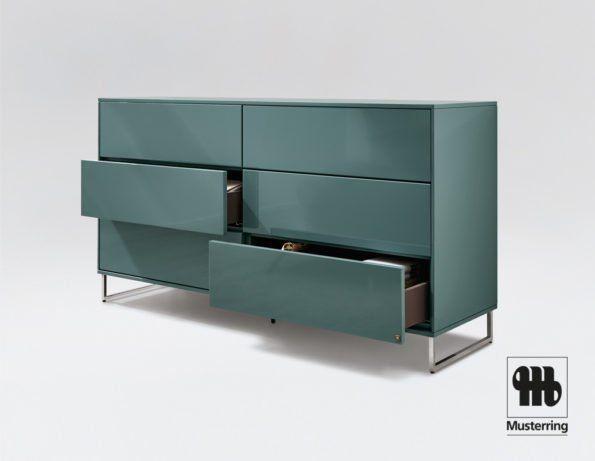Musterring Kara Frame Sideboard In Hochglanz Blau In 2019