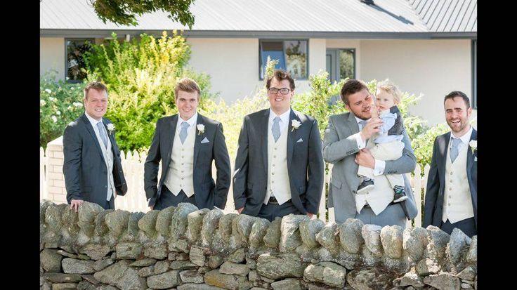 Groom & Groomsmen suited by Omen Suit Hire #omensuithire #queenstownweddings #suitedandbooted
