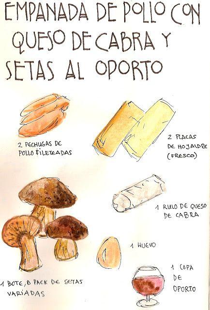Gastro Andalusi: Empanada de pollo con queso de cabra y setas a la reducción de Oporto