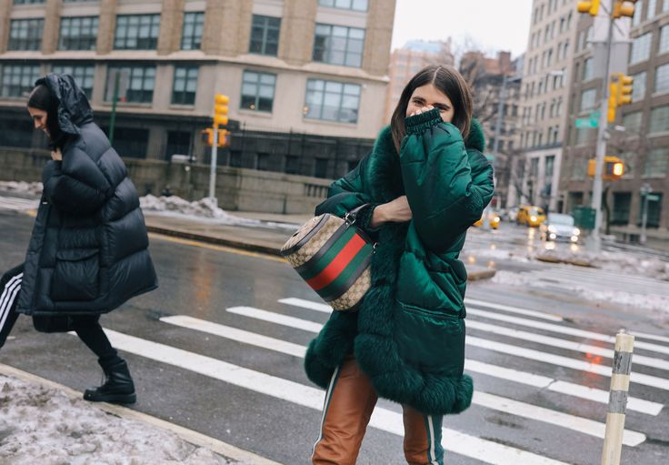 Ursina Gysi with a Gucci bag