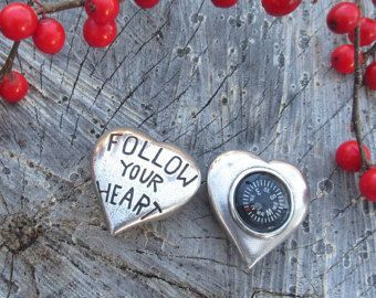 My Heart Will Guide You Home Pocket Compass- Inspirational Gifts for Your Valentine or Sweetheart by jimclift