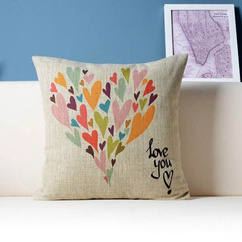 Looking for perfect housewarming gift? Give the gift of love with the Love You canvas pillow #streetstyle