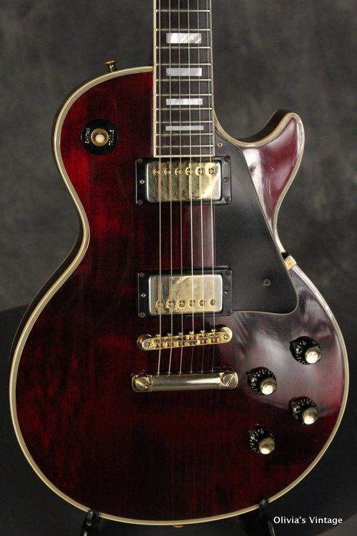 1975 Gibson LES PAUL CUSTOM Wine Red!!! WAFFLE BACK keys! all original!