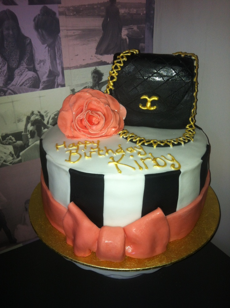 Pretty girly Chanel birthday cake Birthday Wishes ...