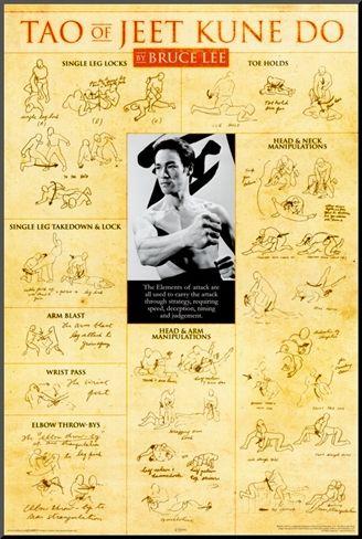 Bruce Lee Teachings Poster